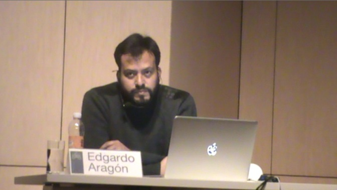 Conferencia de Edgardo Aragón en el Museo Amparo