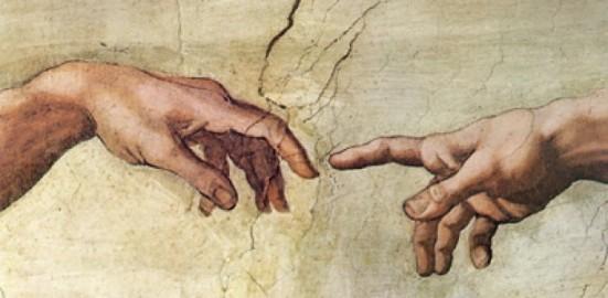 La creación de Adán, de Miguel Ángel - Detalle