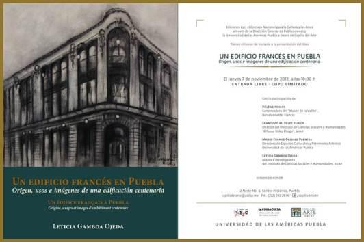 Un edificio francés en Puebla - Cartel