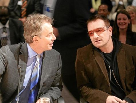 Bono y Blair - Imagen pública