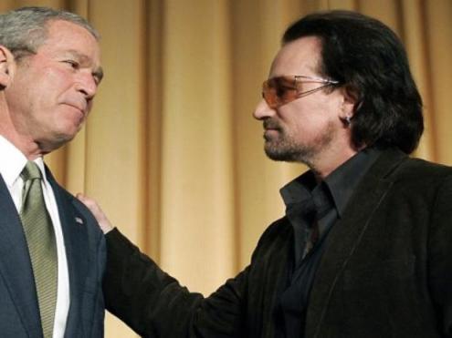 Bono y Bush - Imagen pública