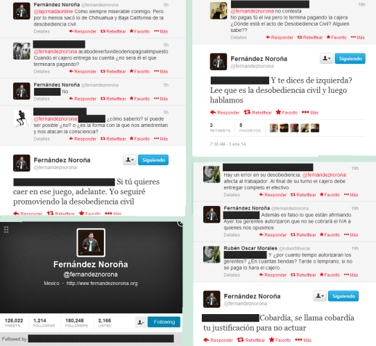 Conversaciones en Twitter de Fernández Noroña - Imagen pública