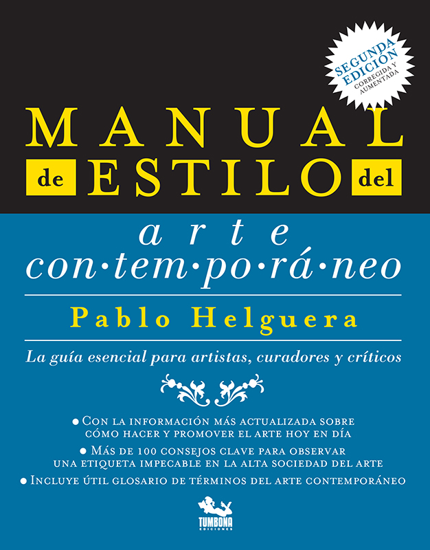 Manual de estilo del arte contemporáneo - Portada