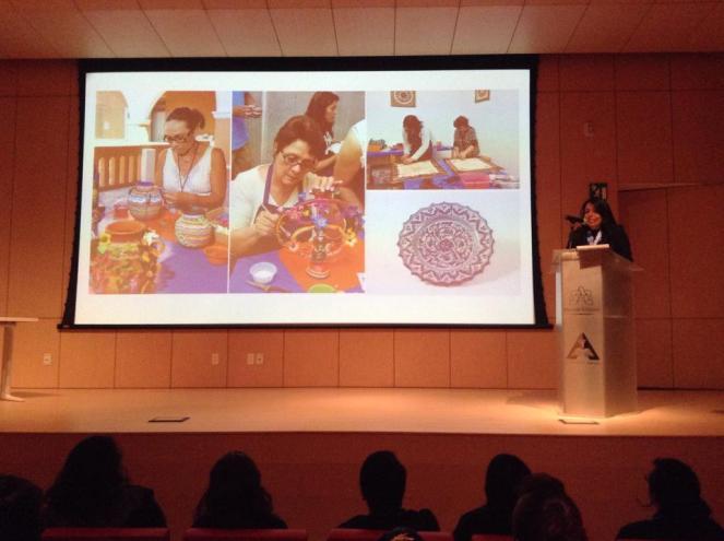 presentación del taller de artesanías