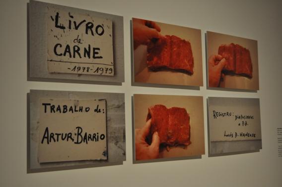Registro do livro de carne, de Artur Barrio - Fotografía por Jessica Tirado Camacho
