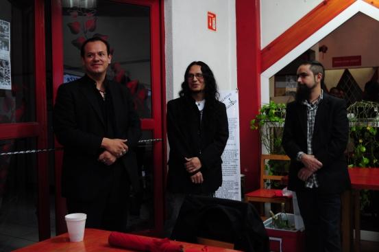 Malasmuerte, Zaratustra y Carlos Landini - Fotografía por Jessica Tirado