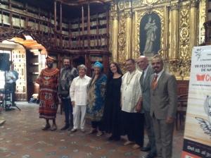 Director Armando Trejo y narradores durraante la inauguración