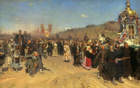 Procesión de Pascua en la región de Kursk (1880-83). Ilyá Repin