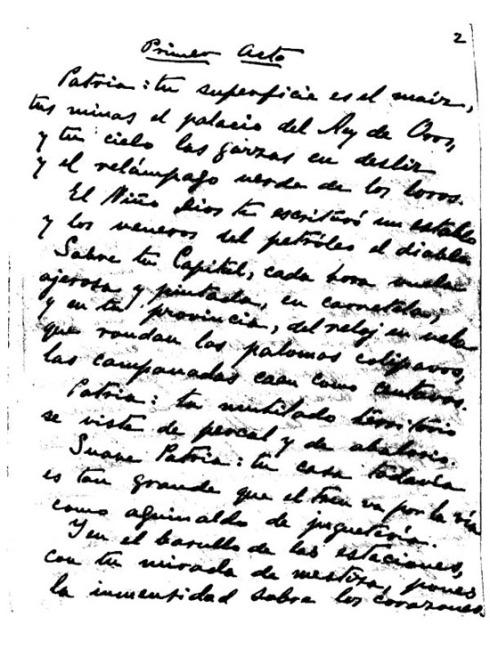 La suave patria, manuscrito - Imagen pública