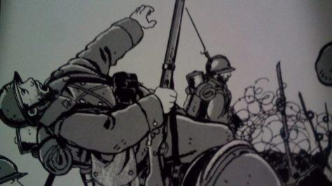 Era la guerra de las trincheras - Ilustración
