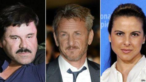 El Chapo, Sean Penn y Kate del Castillo - Imagen pública
