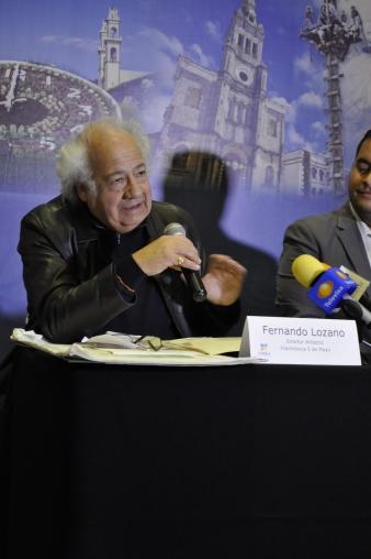 Fernando Lozano en rueda de prensa - Fotografía por Jessica Tirado Camacho
