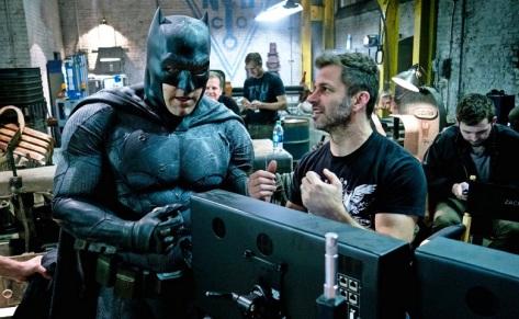Batfleck y Snyder - Imagen pública