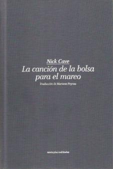 La canción de la bolsa para el mareo, de Nick Cave - Portada
